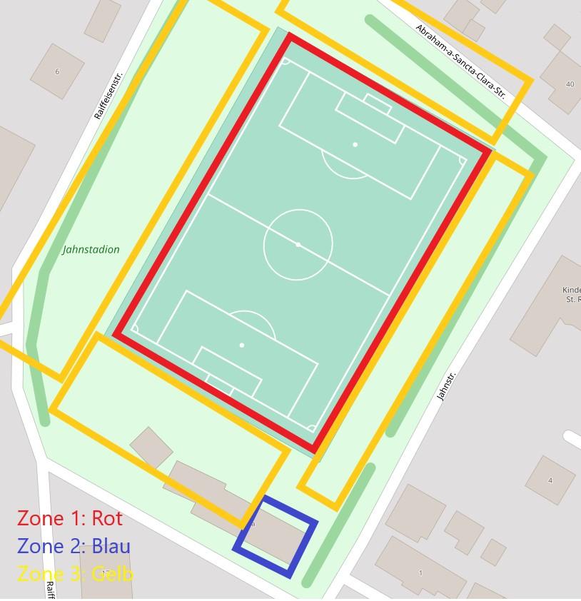 Zonierung - Jahnstadion Meßkirch