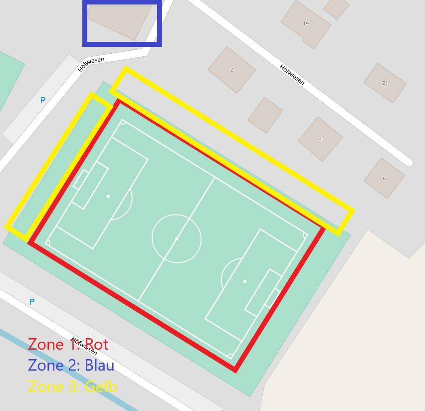 Zonierung - Sportplatz Menningen