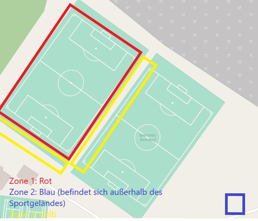 Zonierung - Sportplatz Rohrdorf